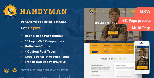 Handyman by ThemeLaboratory (WordPress theme)