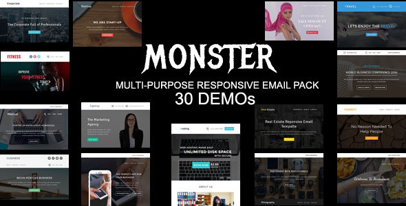 MONSTER by Pennyblack (HTML Email Template)