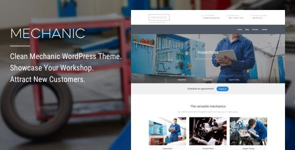 Mechanic by ThemeTrail (WordPress theme)