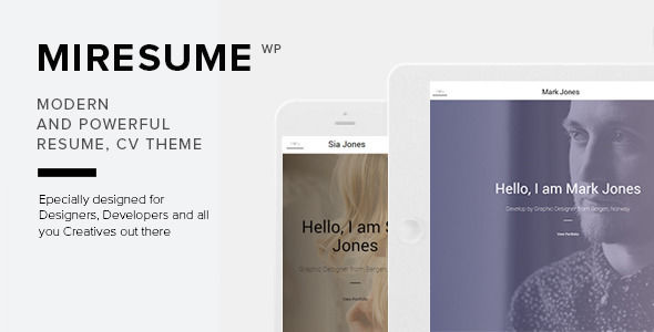 Miresume by NRGThemes (WordPress theme)