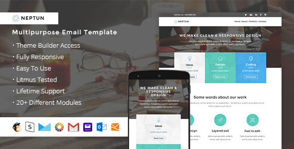 Neptun by ThemesCode (HTML Email Template)