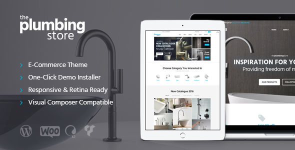 Plumbing And Building Parts by ThemeREX (WordPress theme)