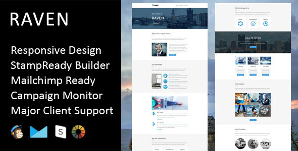 Raven by Fourdinos (HTML Email Template)