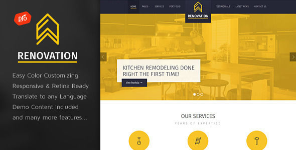 Renovation by ProgressionStudios (WordPress theme)