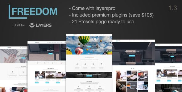 Responsive Multi-Purpose Layers WP Theme by PalaBari (WordPress theme)