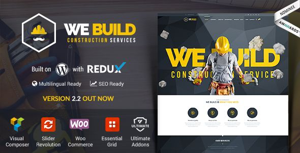 We Build by Net-bee (WordPress theme)