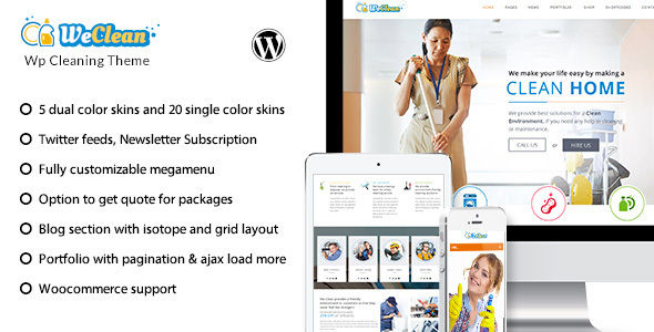 We Clean by Designthemes (WordPress theme)