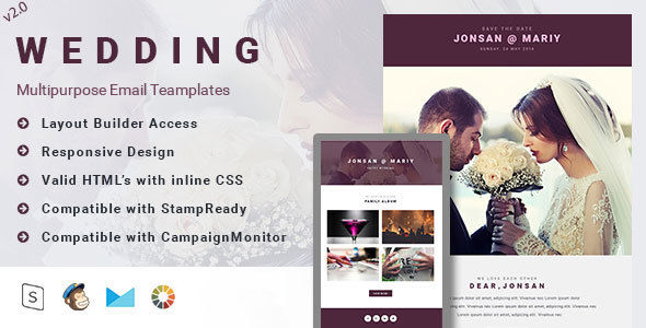 Wedding by Rsacreative (HTML Email Template)
