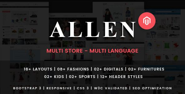 Allen by Plaza-Themes (Magento theme)