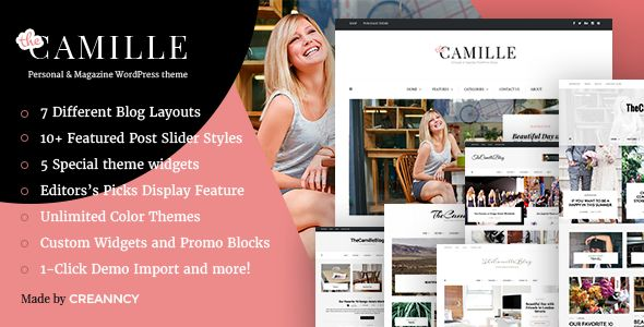 Camille by Creanncy (video blog WordPress theme)