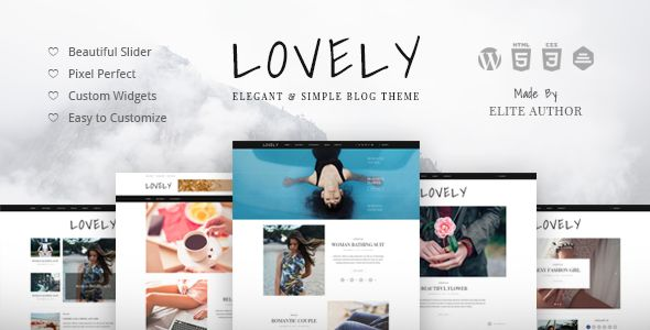Lovely by Themewaves (video blog WordPress theme)