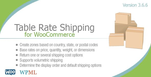 Table Rate Shipping For WooCommerce by Bolderelements (pricing table plugin)