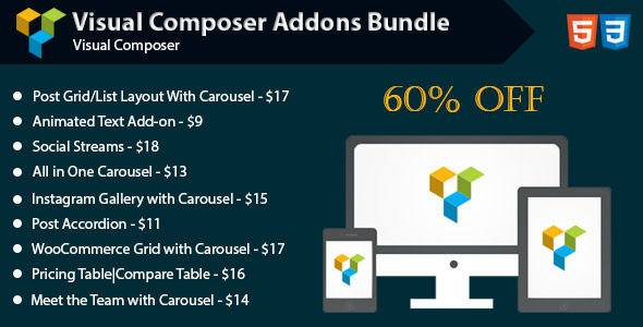 Visual Composer Addons Bundle by Saragna (pricing table plugin)
