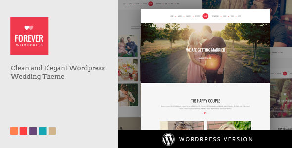 WP Forever by DoubleEight (wedding invitation WordPress theme)