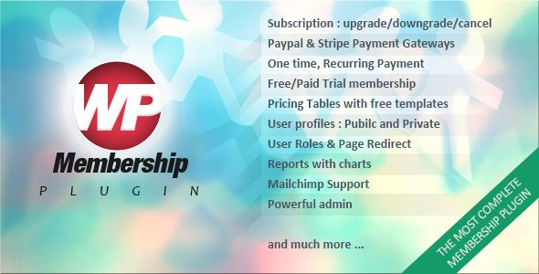 WP Membership by E-plugins (pricing table plugin)