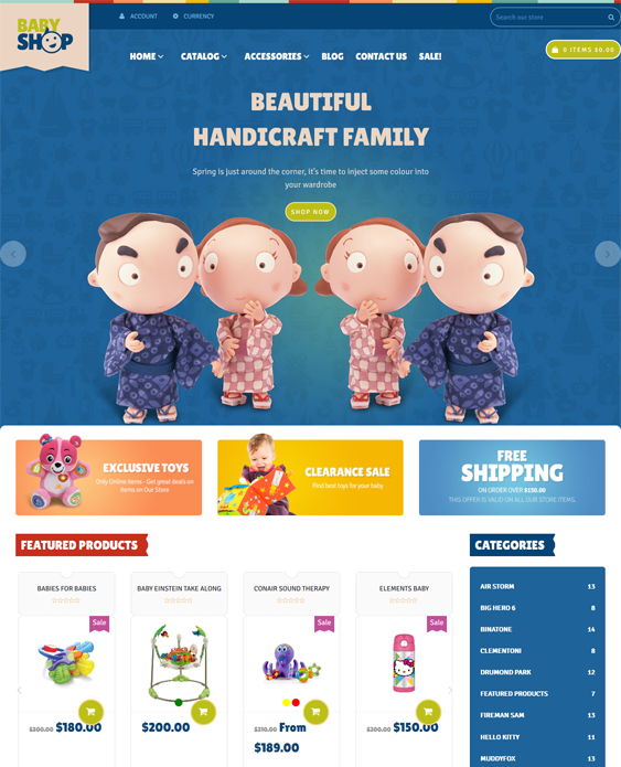 baby kids shopify themes