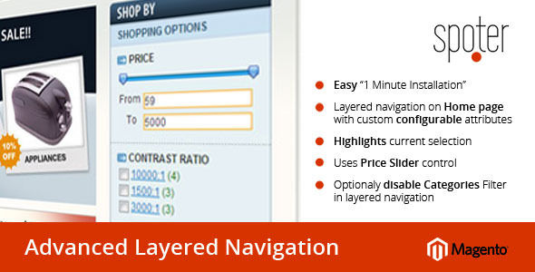 Advanced Layered Navigation Extension For Magento by Spoter (Magento extension)