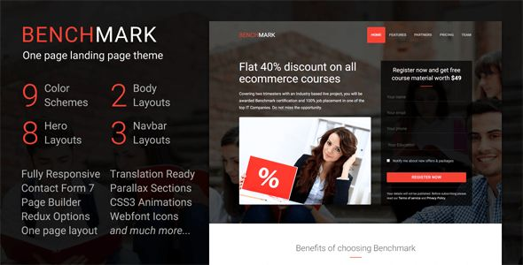 Benchmark by SaurabhSharma (multi-purpose WordPress theme)