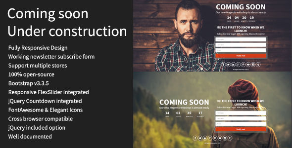 Coming Soon by Procoderdev (Magento extension)