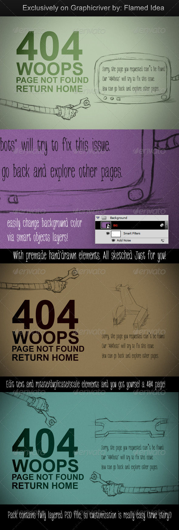 Costumizable Scribble Type Page Error by AddtoFavorites (layered 404 page template)