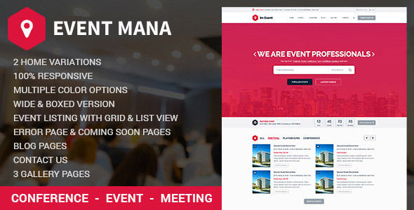 Event Management WordPress Theme by Jthemes (event & conference WordPress theme)
