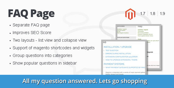 FAQ Page Magento Extension by Nwdthemes (Magento extension)