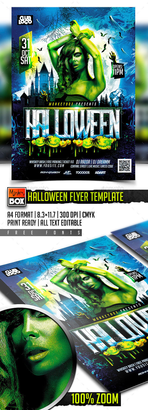 Halloween Flyer Template by MonkeyBOX (Halloween party flyer)