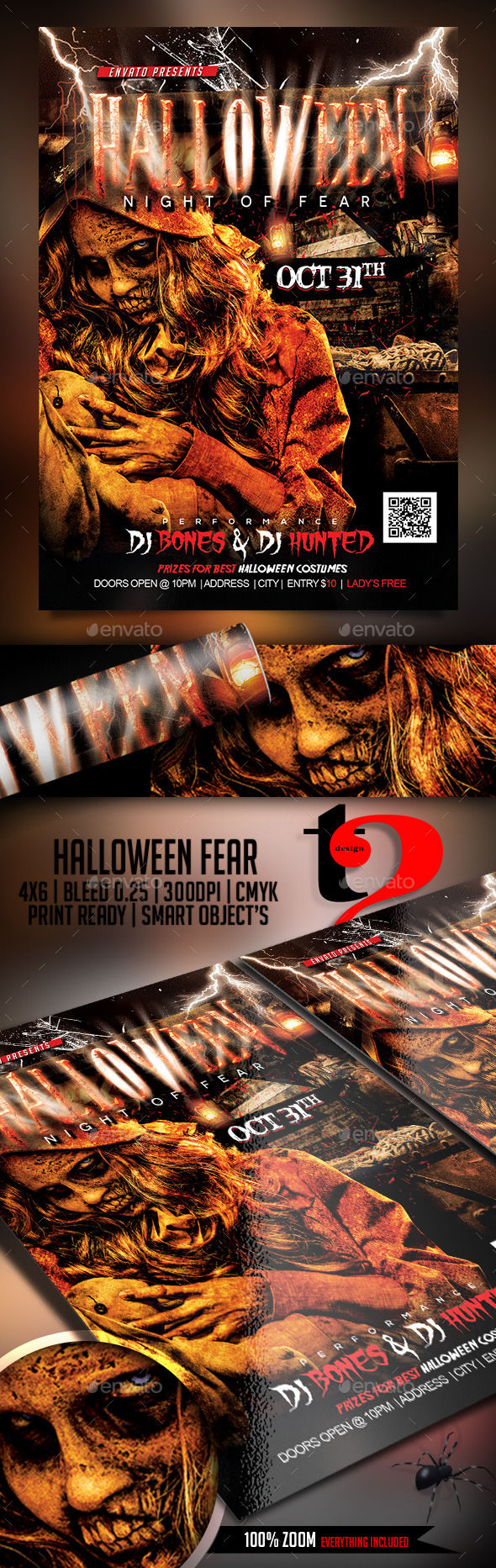 Halloween Flyer by Take2Design (Halloween party flyer)