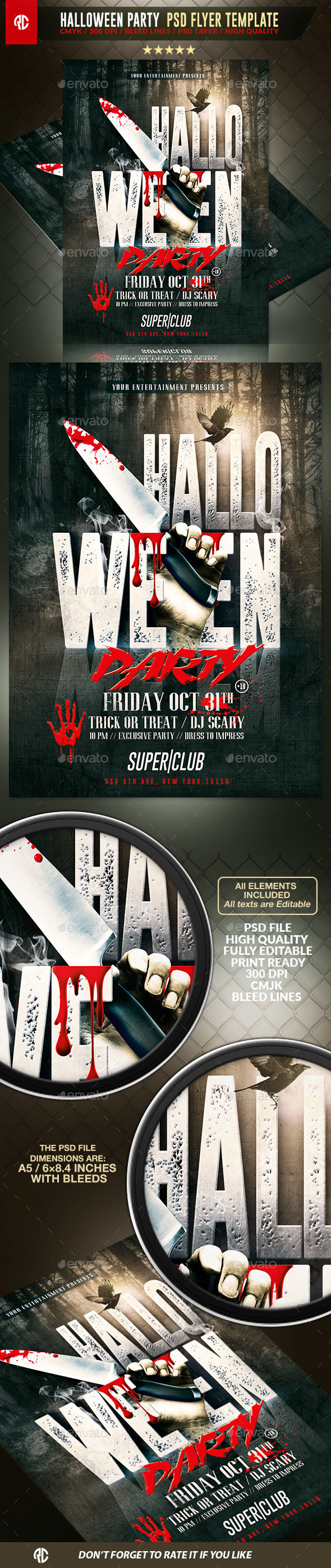 Halloween Horror Party by RomeCreation (Halloween party flyer)