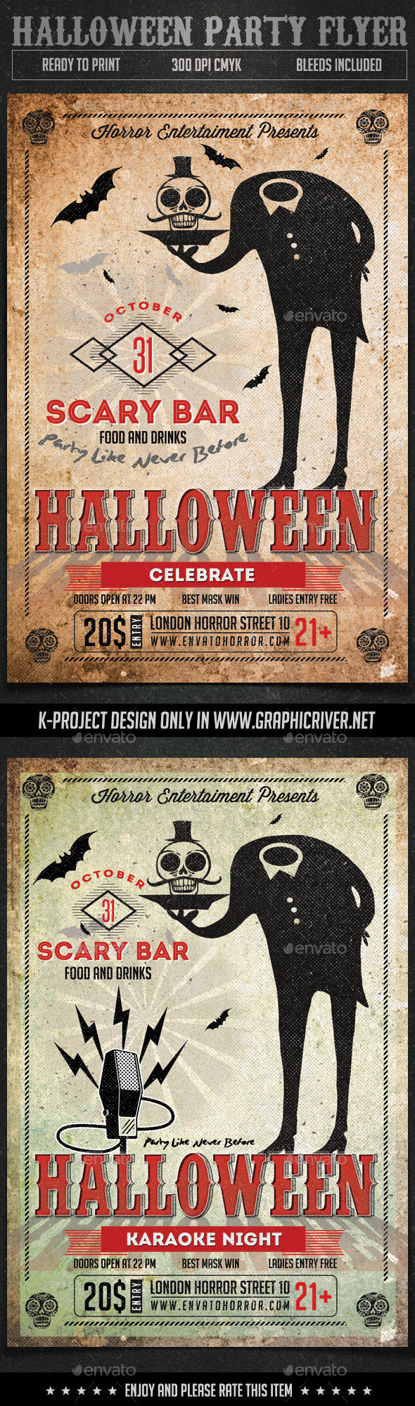 Halloween Party Flyer by K-project (Halloween party flyer)