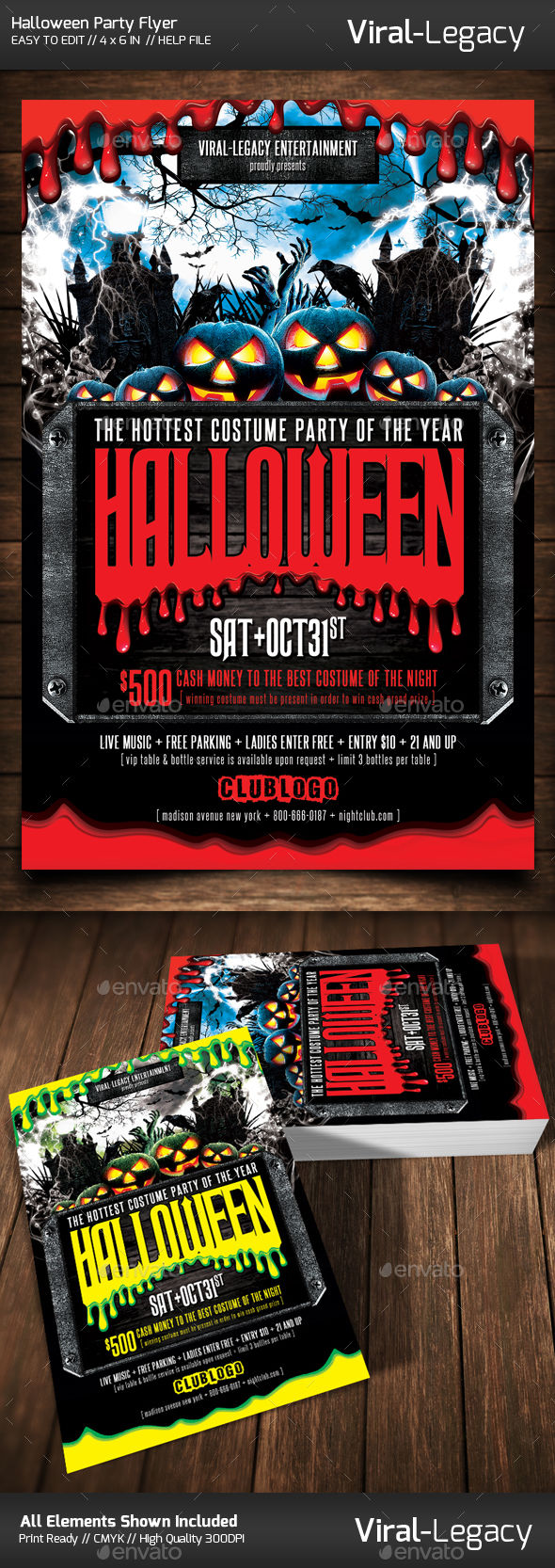 Halloween Party Flyer by Viral-Legacy (Halloween party flyer)