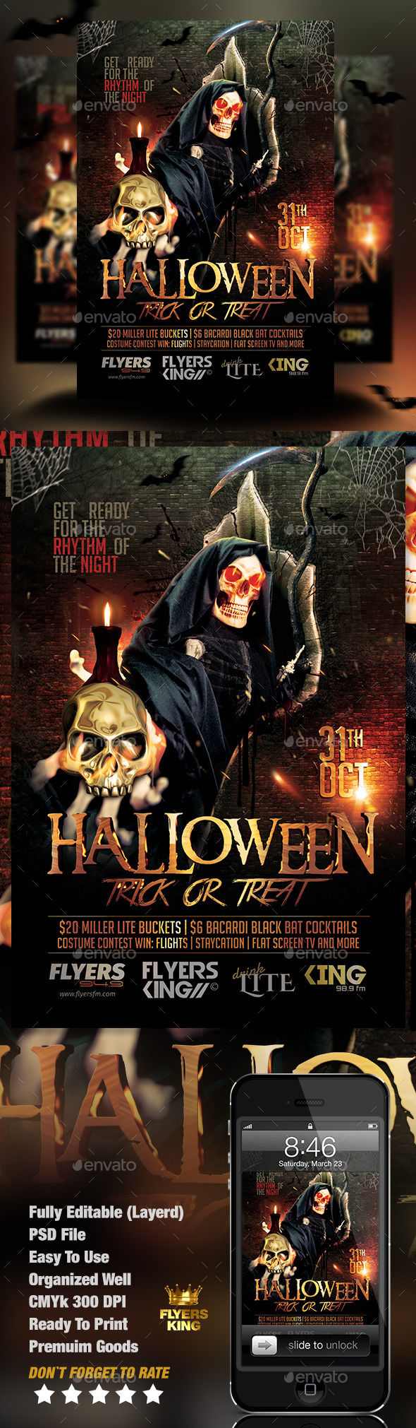 Halloween Party Flyer by FlyersKing (Halloween party flyer)