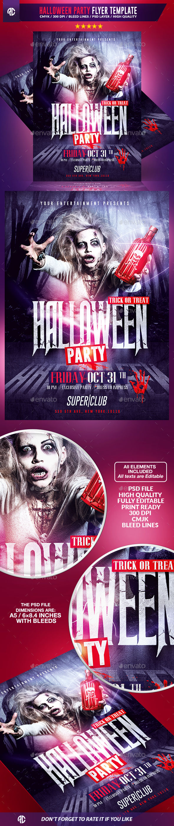 Halloween Party by RomeCreation (Halloween party flyer)