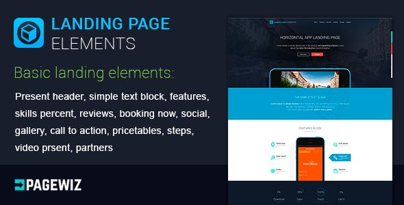Landing Elements Vol 1 For Pagewiz by MatArt (landing page template for PageWiz)