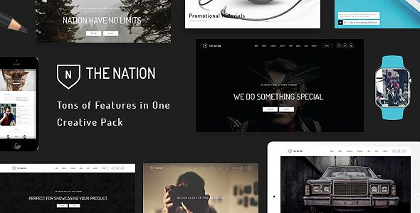 Nation by FRESHFACE (multi-purpose WordPress theme)