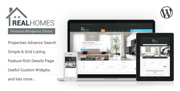 Real Homes by InspiryThemes (real estate and realtor WordPress theme)