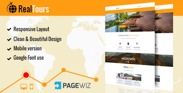 RealTour by Ewebcraft (landing page template for PageWiz)