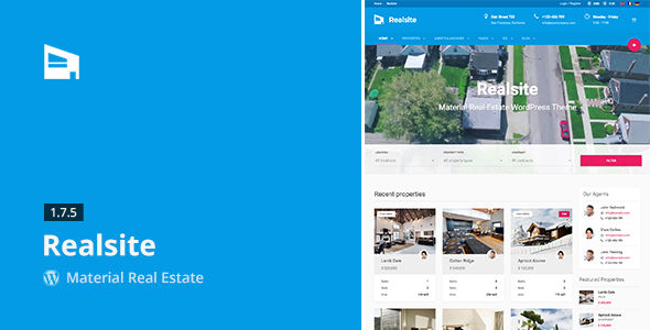 Realsite by Aviators (real estate and realtor WordPress theme)