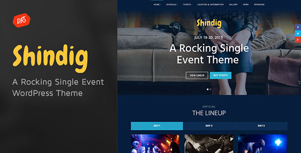 Shindig by ProgressionStudios (event & conference WordPress theme)