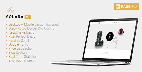 Solara by IamGrv (landing page template for PageWiz)