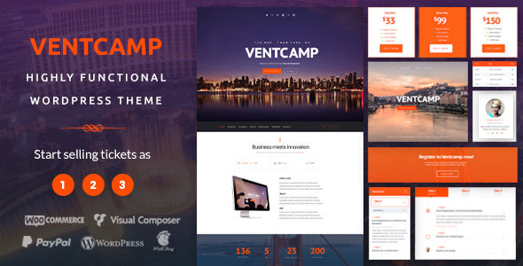 Ventcamp by Vivaco (event & conference WordPress theme)