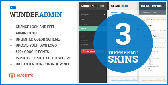 Wunderadmin by Nwdthemes (Magento extension)
