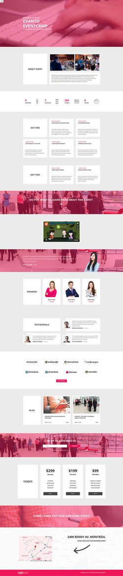 CampEvent - Conference - Event WordPress Theme