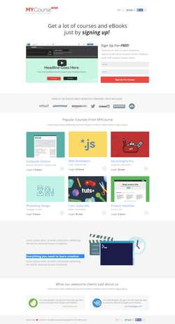 MYCourse - Pagewiz eCourse Landing Pages Pack