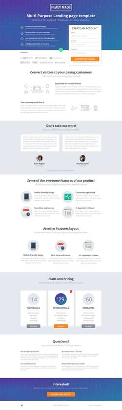 PageWiz Multi-Purpose Landing Template - Readymade