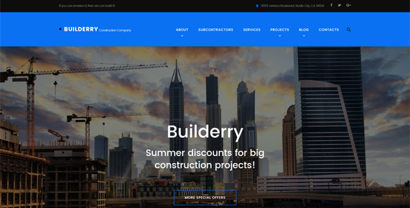 11 of the Best WordPress themes for Construction Companies & Building Contractors