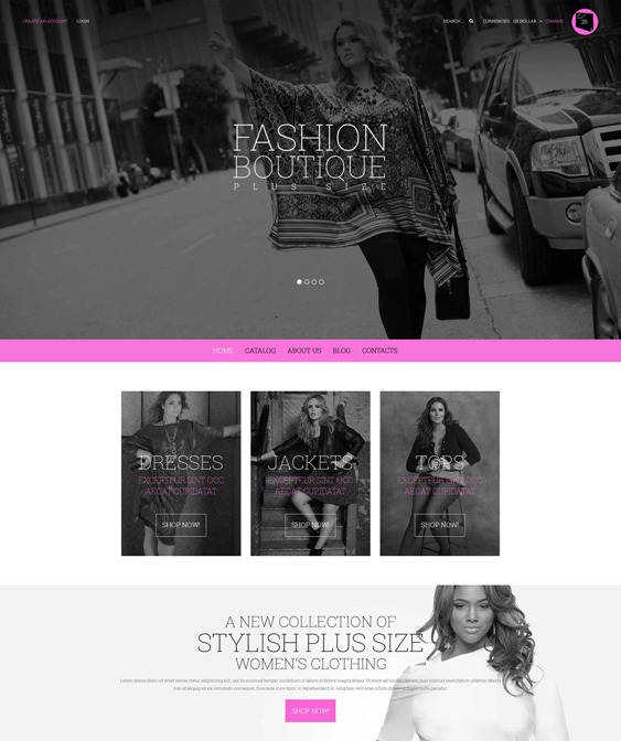 curvy clothing shoes accessories virtuemart themes