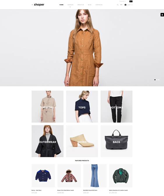 shoper clothing shoes accessories virtuemart themes