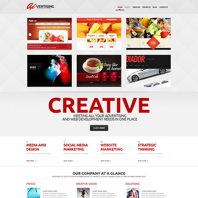 Advertising Company WordPress Theme (WordPress theme for advertising agencies) Item Picture