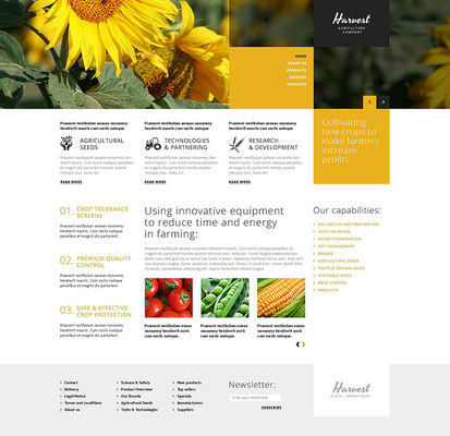 Agriculture Company WordPress Theme (farming and agricultural WordPress theme) Screenshot